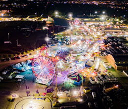 fair lights aerial